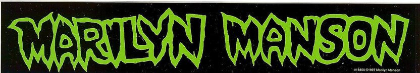 Marilyn Manson Vinyl Sticker Green Letters Logo