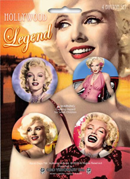 Marilyn Monroe Four Button Pin Set