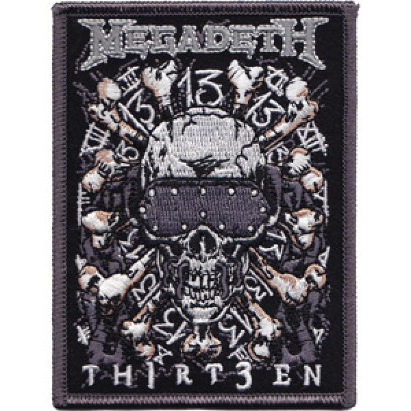 Megadeth Iron-On Patch Skull Thirteen Logo