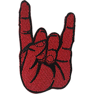 Metal Fingers Iron-On Patch Red