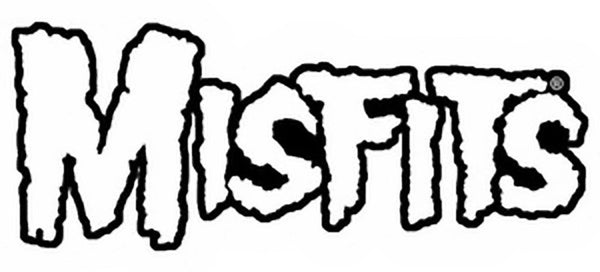 Misfits Iron On Patch Letters Logo White Rock Band Patches