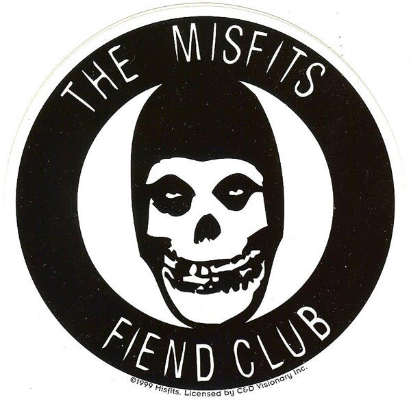 Misfits vinyl sticker fiend club skull circle logo