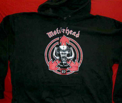 Motorhead Hoodie Sweatshirt 27 Logo Black Size Medium