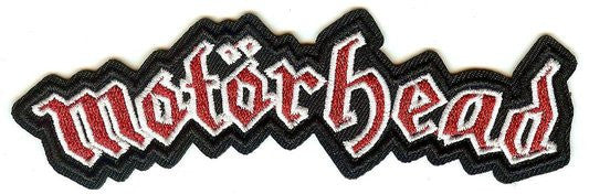 Motorhead Iron-On Patch Red Letters Logo