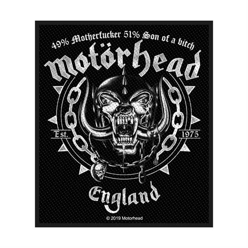 Motorhead Sew On Patch Ball And Chain England Logo