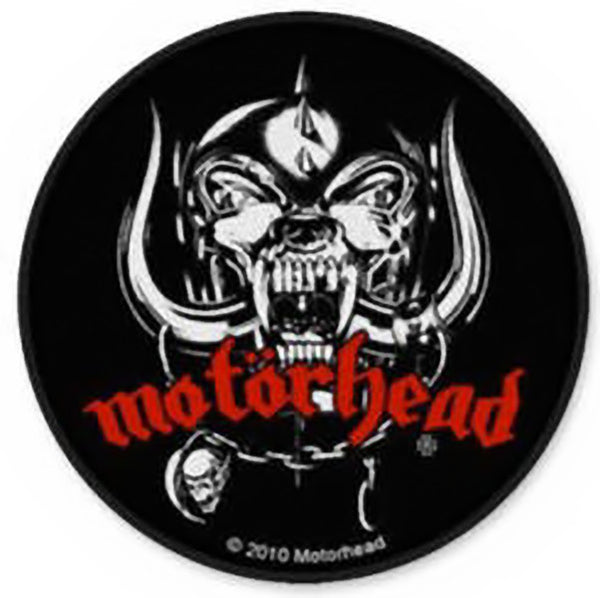 Motorhead Sew On Patch Round Skull Logo Rock Band Patches