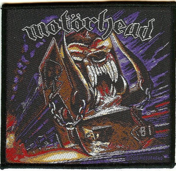 Motorhead Sew On Patch Orgasmatron Train Logo