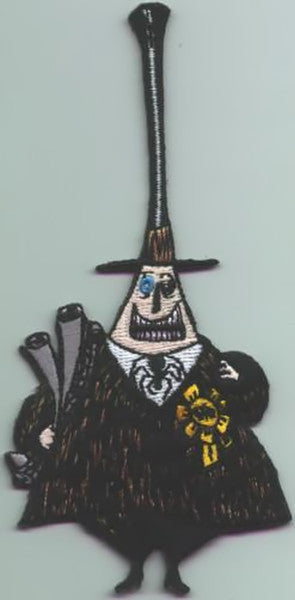 Nightmare Before Christmas Iron-On Patch Mayor Happy