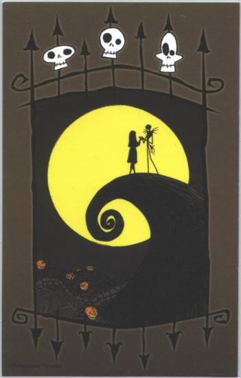 Nightmare Before Christmas Vinyl Sticker Moon Gate