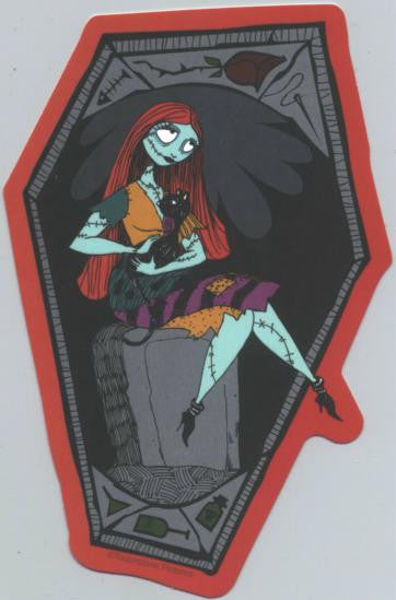 Nightmare Before Christmas Vinyl Sticker Sally Cat