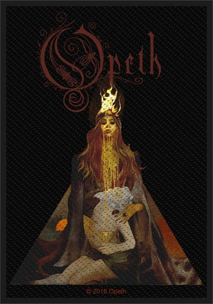 Opeth Sew On Patch Sorceress Persephone Logo Rock Band