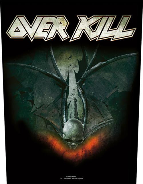 Overkill Sew On Canvas Back Patch Skull Logo