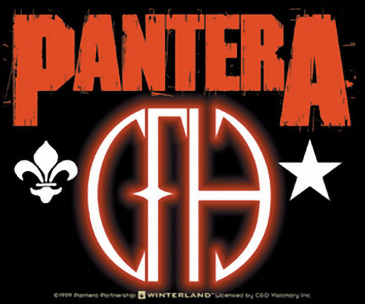 Pantera Vinyl Sticker Cowboys From Hell CFH Logo