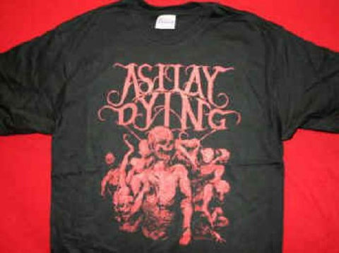 As I Lay Dying T-Shirt Dead Logo Black Size Large New