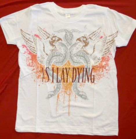As I Lay Dying T-Shirt White Slim Fit Tee Size Large New