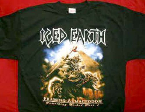 Iced Earth T-Shirt Framing Armageddon Black Size Small New