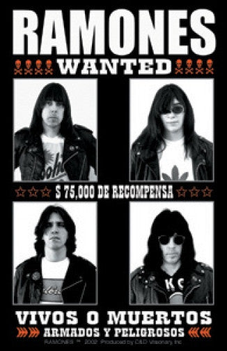 The Ramones Vinyl Sticker Wanted Poster Logo