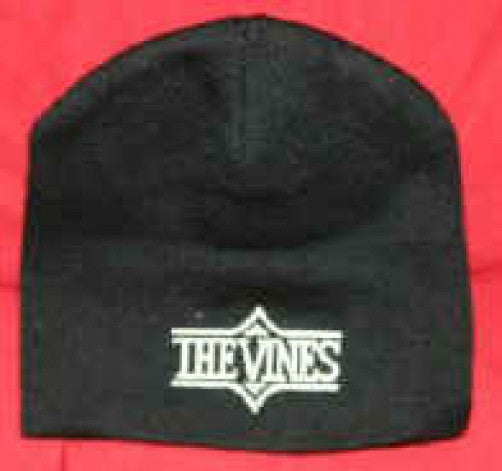 Vines Beanie Cap Letters Logo Black One Size Fits All