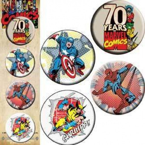 Marvel Comics Four Button Pin Set