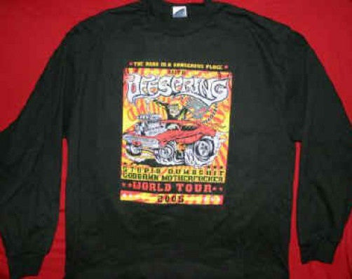 The Offspring Long Sleeve T-Shirt World Tour Black Size Medium