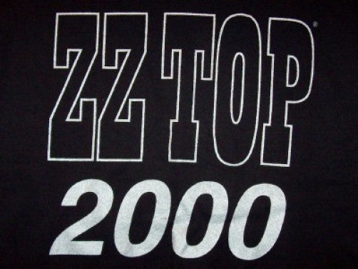 ZZ Top T-Shirt Millenium 2000 Concert Black Size XL New