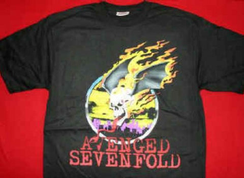 Avenged Sevenfold T-Shirt Skull Logo Black Small New