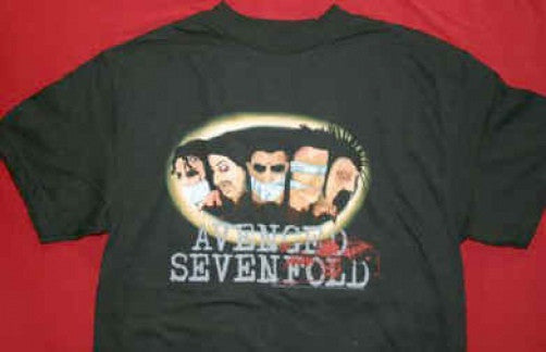 Avenged Sevenfold T-Shirt Gagged Black Size Small New