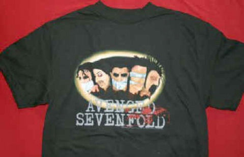 Avenged Sevenfold T-Shirt Gagged Black Size XL New