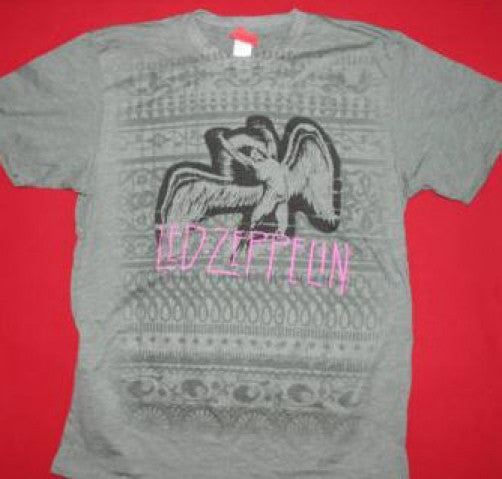 Led Zeppelin T-Shirt Swan Song Green Size Large New