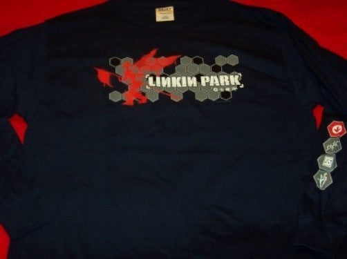 Linkin Park Long Sleeve T-Shirt Navy Blue Size XL New