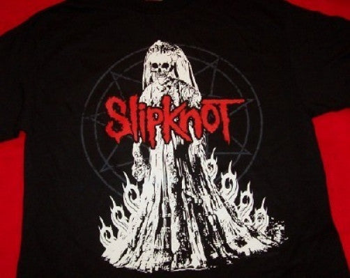 Slipknot T-Shirt Bride Logo Black Size Small New