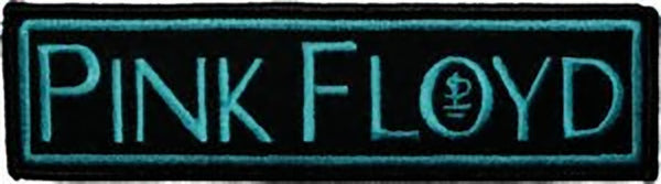 Pink Floyd Iron On Patch Blue Letters Logo Rock Band Patches