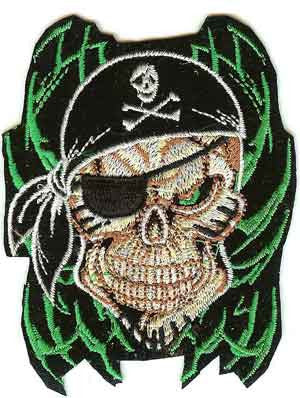 Skull Iron-On Patch Pirate