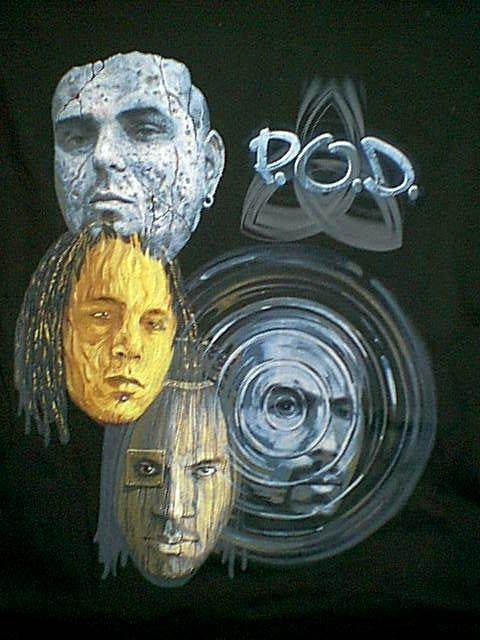 POD T-Shirt Southtown Black Size Large Rock Band New