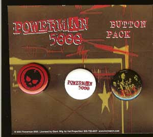 Powerman 500 Three Button Pack