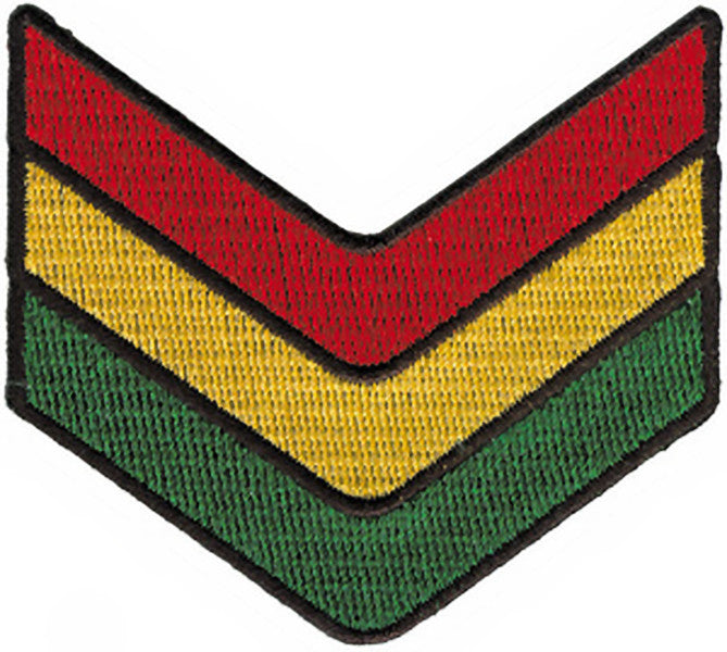 Rasta Iron-On Patch Chevrons Logo