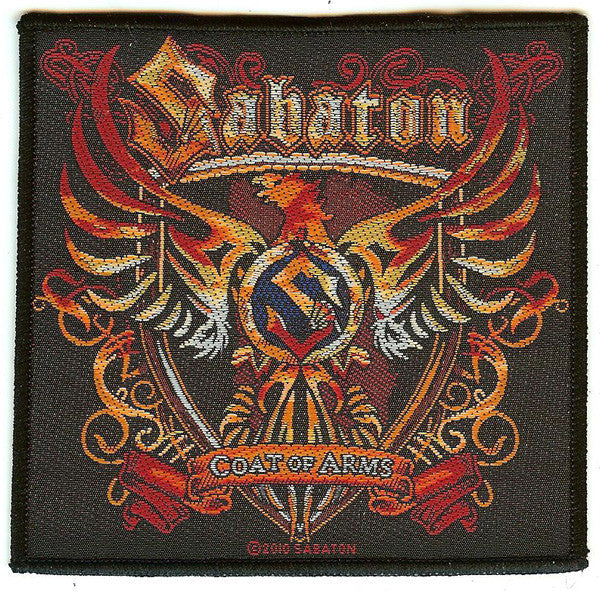 Sabaton Sew On Patch Coat Of Arms Logo