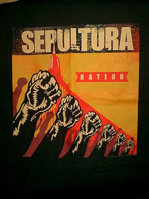 Sepultura T-Shirt Nation Tour Fists Black Size Medium New