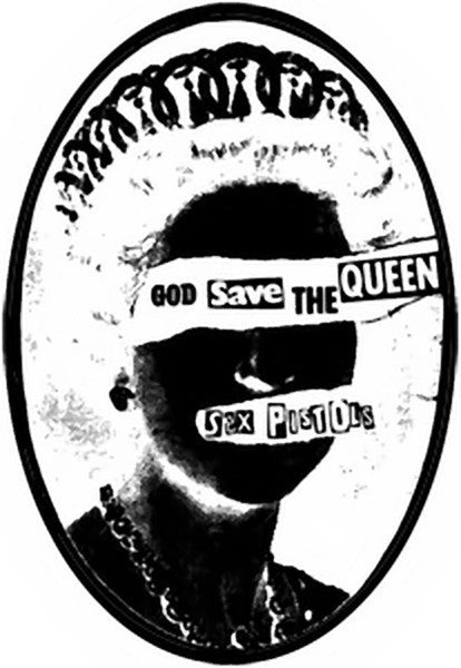 Sex Pistols Iron-On Patch God Save The Queen Logo
