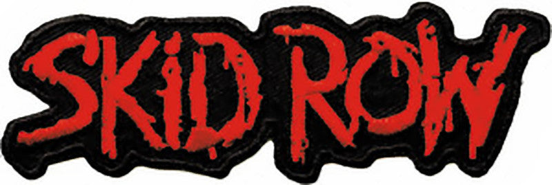 Skid Row Iron-On Patch Red Letters Logo
