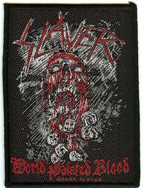 Slayer Sew On Patch World Painted Blood Logo