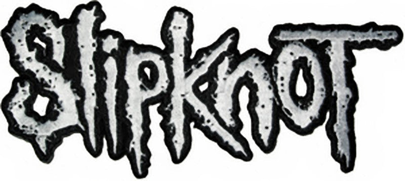 Slipknot Iron-On Patch White Letters Logo
