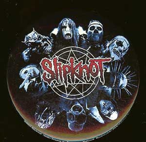 Slipknot Round Button Magnet Masks Logo