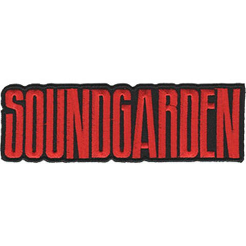 Soundgarden Iron-On Patch Red Letters Logo