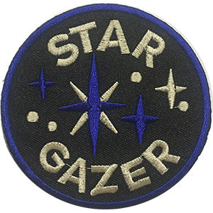 Star Gazer Iron-On Patch Round Letters Logo