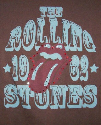 Rolling Stones Babydoll T-Shirt Tongue Logo Brown Size Large
