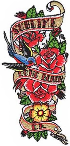 Sublime Iron-On Patch Flowers Logo