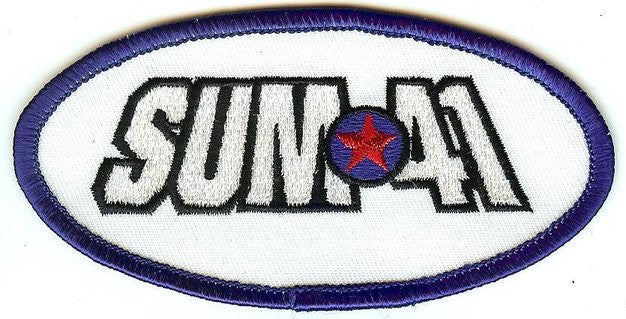 Sum 41 Iron-On Patch Oval Logo