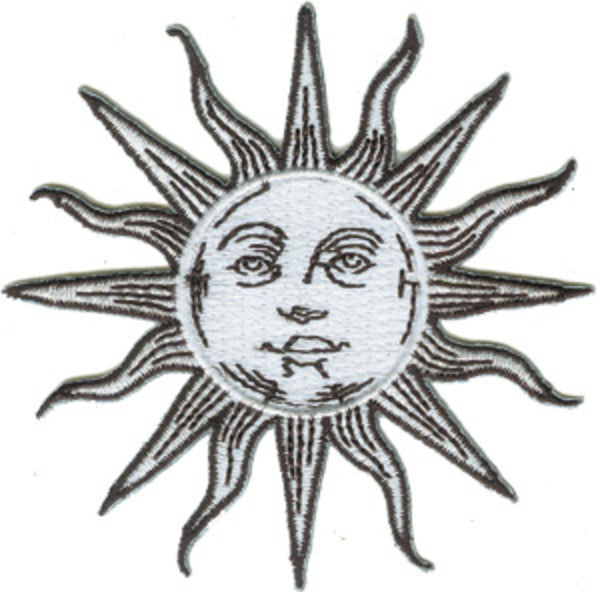 Sun Iron-On Patch Face