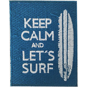 Surfing Iron-On Patch Keep Calm And Let's Surf